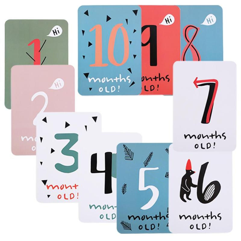 20pcs Baby Growth Milestone Commemorative Card Month Days Photography Props Milestone Photographic Props For Infant Growth