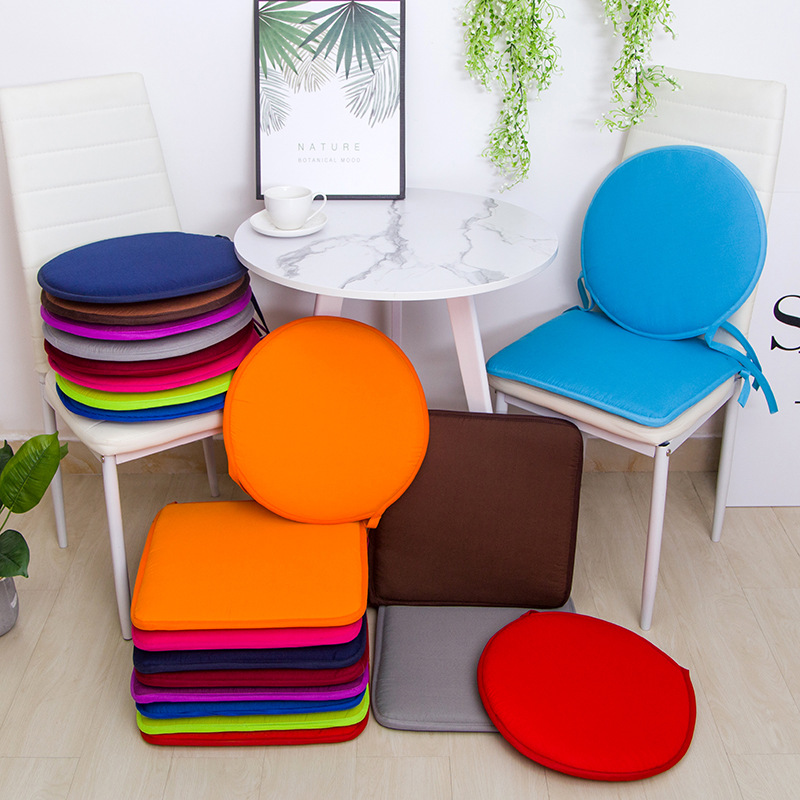 Candy Solid Colors Chair Seat Cushion Pink Decorative Floor Pillows Outdoor Round Cushions Travel Sitting Pad For Dining Kitchen
