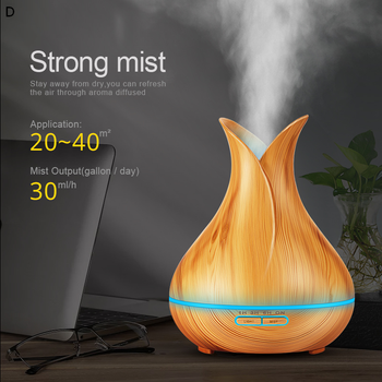 KBAYBO Air Humidifier Essential Oil Diffuser Light wood grain Aromatherapy diffusers Aroma Mist Maker 24v led light Home 400ml