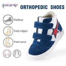 цены Princepard 2019 new orthopedic sports shoes for kids navy pink colors autumn children orthopedic shoes