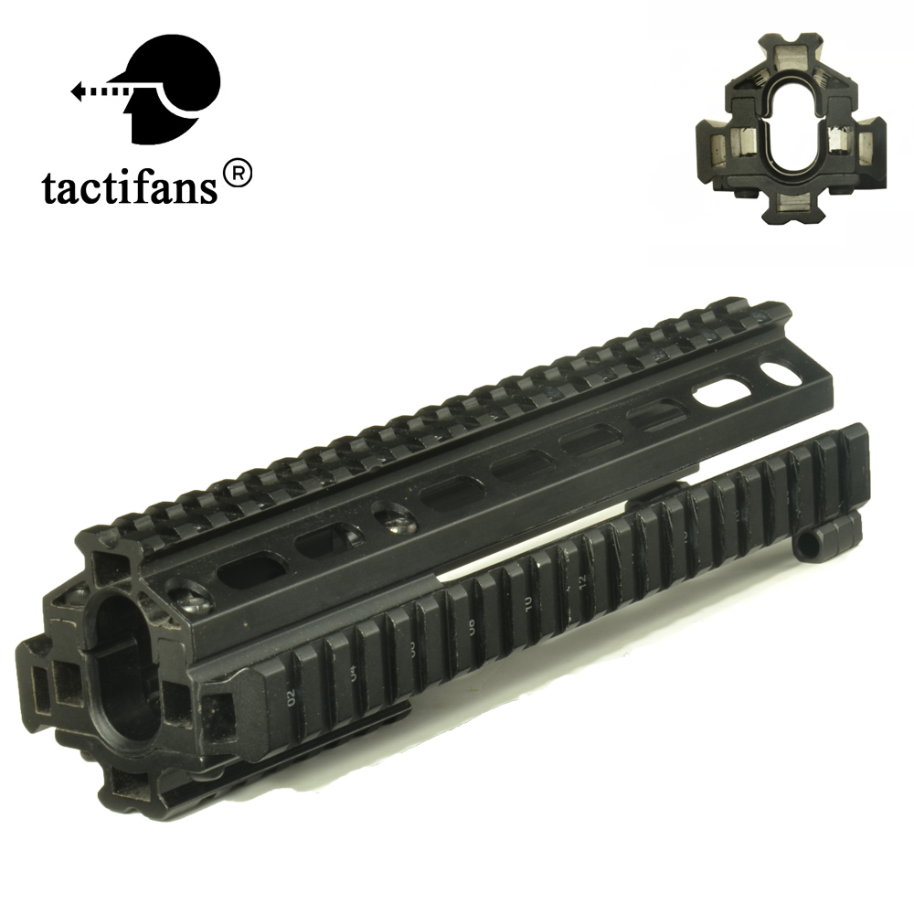 Tactical SKS 568 569 Quad-rail Handguard Forearm System Mount Hard Anodized Finish Solid Picatinny/Weaver Airsoft Accessories