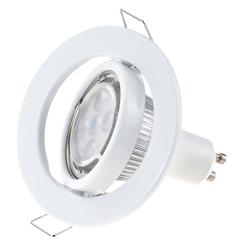 lowest price 10pcs Hot Sale Round Gu10 Spot Bulb Recessed Led Ceiling Light Fixture Downlight MR16 Fitting Mounting Ceiling Spot Lights Frame