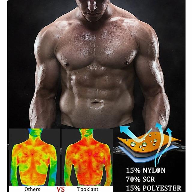 Men Body Shaper Sauna Vest Waist Trainer Zip Double Belt Sweat Shirt Corset Top Abdomen Slimming Shapewear Fat Burn Fitness Top 1