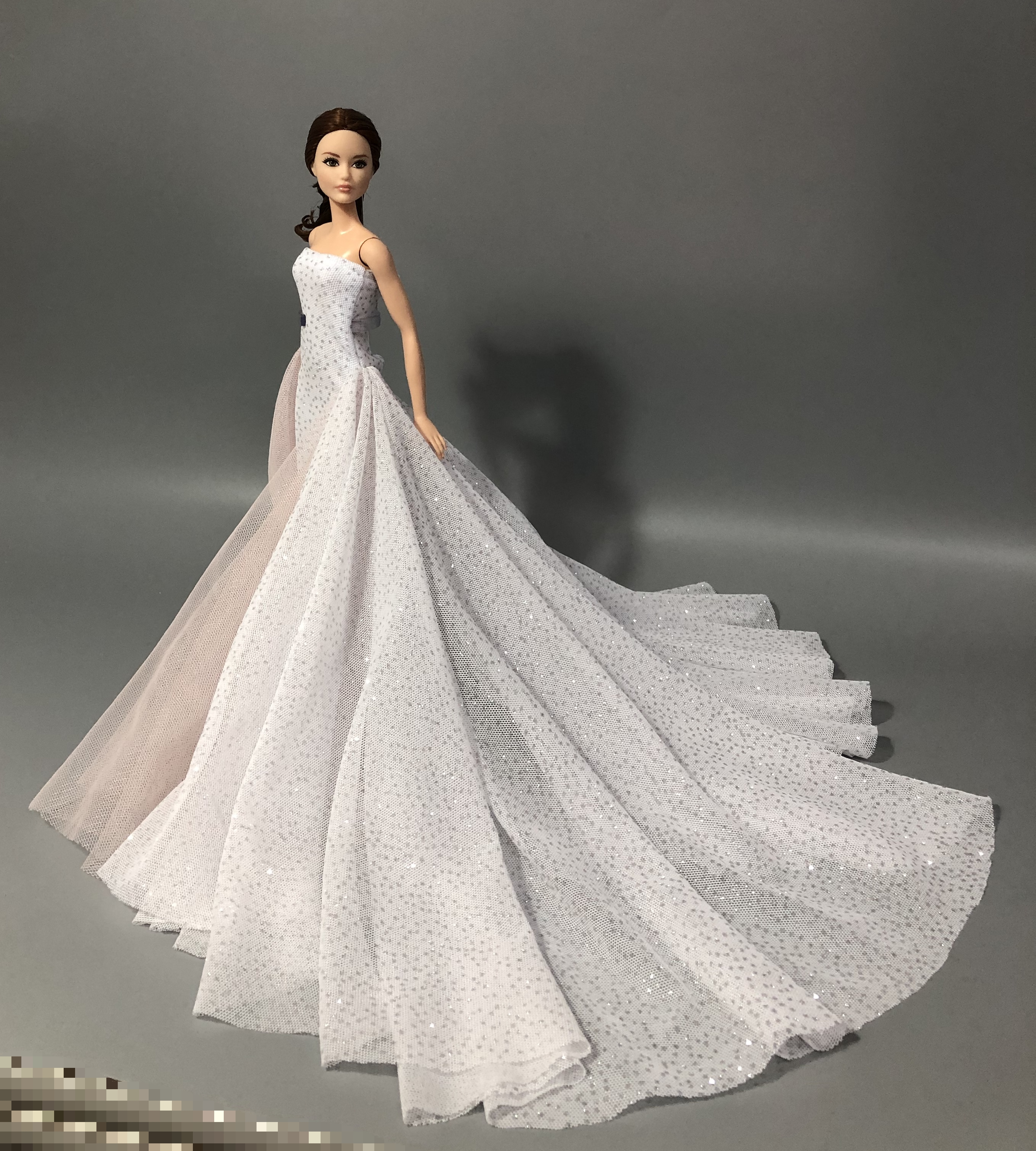 Fashion Original For Elegant Lady Wedding Dress For Barbie Doll Clothes Princesa Barbie Dress Long Dress Accessories