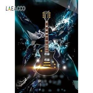 Image 1 - Laeacco תמונה רקע גיטרה מוסיקה דיסקו מסיבת חגיגת גראנג דפוס שיחת וידאו צילום רקע תמונה סטודיו