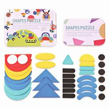 Toys Children Jigsaw-Puzzle Games Wooden-Pattern Kids Montessori Early-Education Tangram-Toy