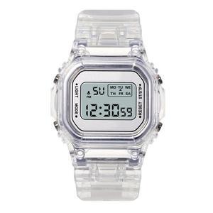 Image 4 - Nữ Sang Trọng Hoa Hồng Vàng Đồng Hồ Nam Dây Silicon Thời Trang Nữ Đèn LED Kỹ Thuật Số Đồng Hồ Casual Nữ Đồng Hồ Điện Tử Reloj Mujer 2020