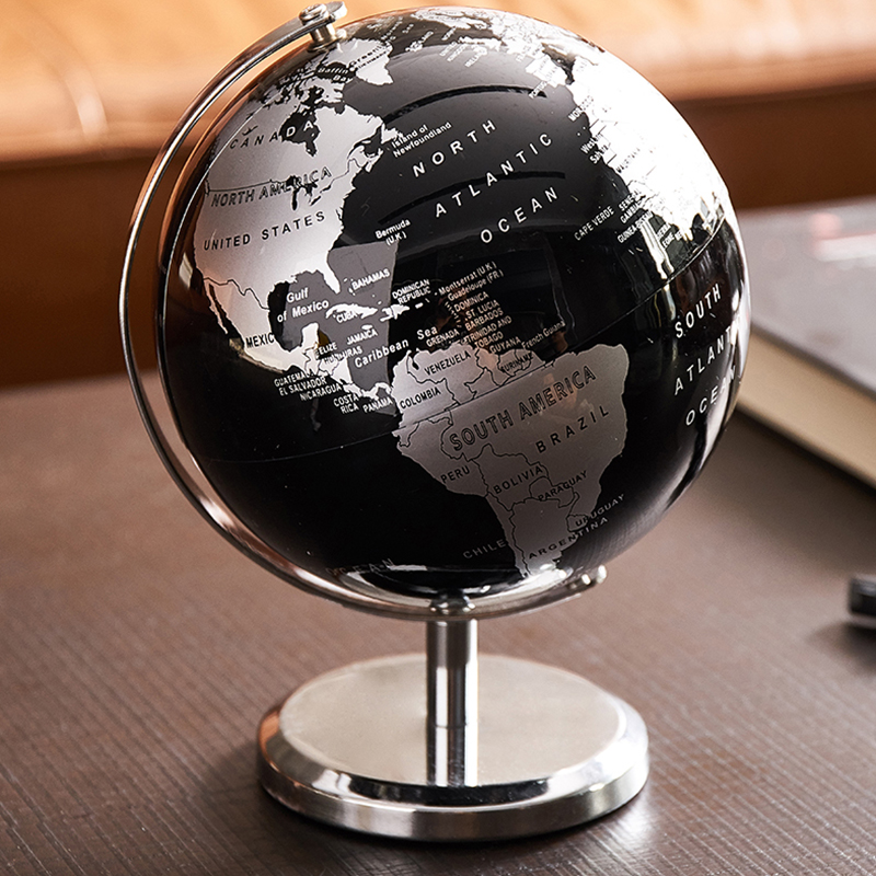 5 Inch Vintage Globe Ornaments For Creative Gift And Home Decoration 3D globe ornaments|Decorative Balls|   - AliExpress