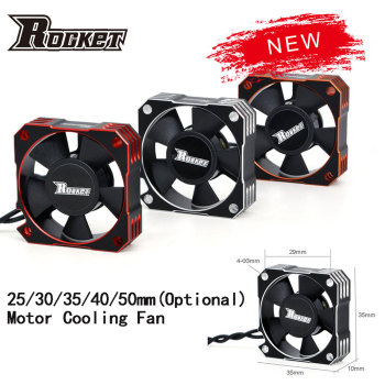 Rocket 25mm 30mm 35mm 40mm 50mm Metal Motor Cooling Fan Heat Dissipation for 1/10 1/8 1/5 1/12 RC Car Brushless Motor