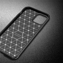 Carbon Fiber Case For iPhone 12 Case SE 2020 11 Pro Max X XR XS Cover Soft Protective Phone Bumper For Apple iPhone 12 Funda