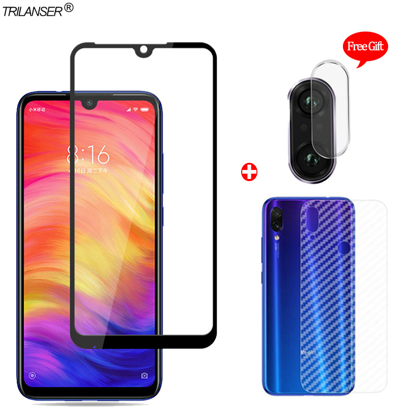 3-in-1 Zurück + Kamera Len Glas Film <font><b>Redmi</b></font> <font><b>Note</b></font> <font><b>7</b></font> Gehärtetem Glas <font><b>Redmi</b></font> <font><b>7</b></font> <font><b>Xiaomi</b></font> <font><b>Note</b></font> <font><b>7</b></font> Screen Protector <font><b>Redmi</b></font> <font><b>Note</b></font> <font><b>7</b></font> Front Film image