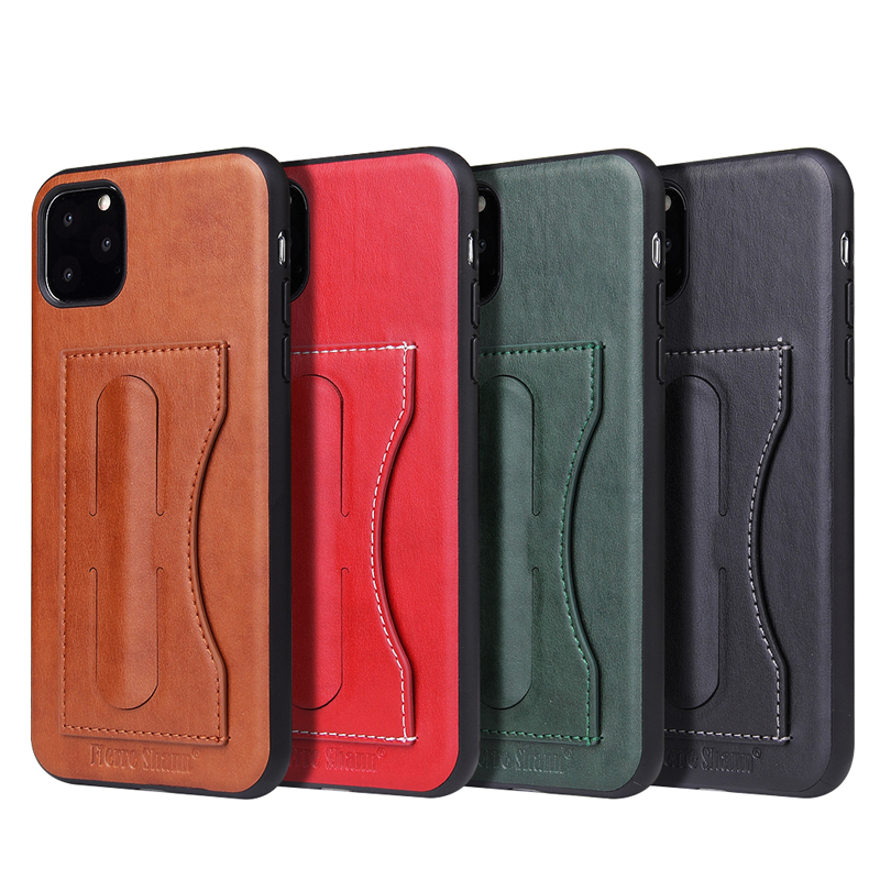 Fashion Faux Leather Card Holder Case for iPhone 11/11 Pro/11 Pro Max 1