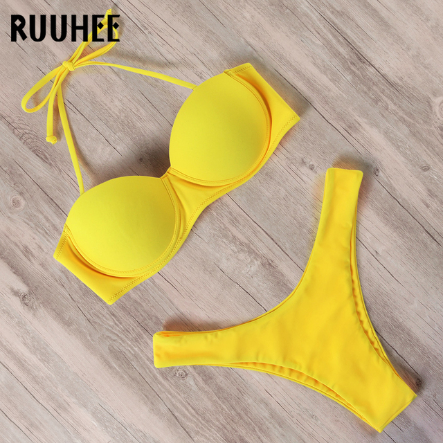 RUUHEE Bikini Swimwear Women Swimsuit 2021 Leopard Brazilian Bikini Set Push Up Bathing Suit Female Summer Beach Wear Biquini 20