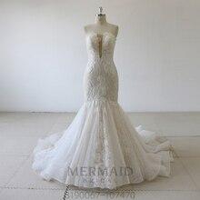 Vestido de novia de sirena de encaje, novedad, 2020