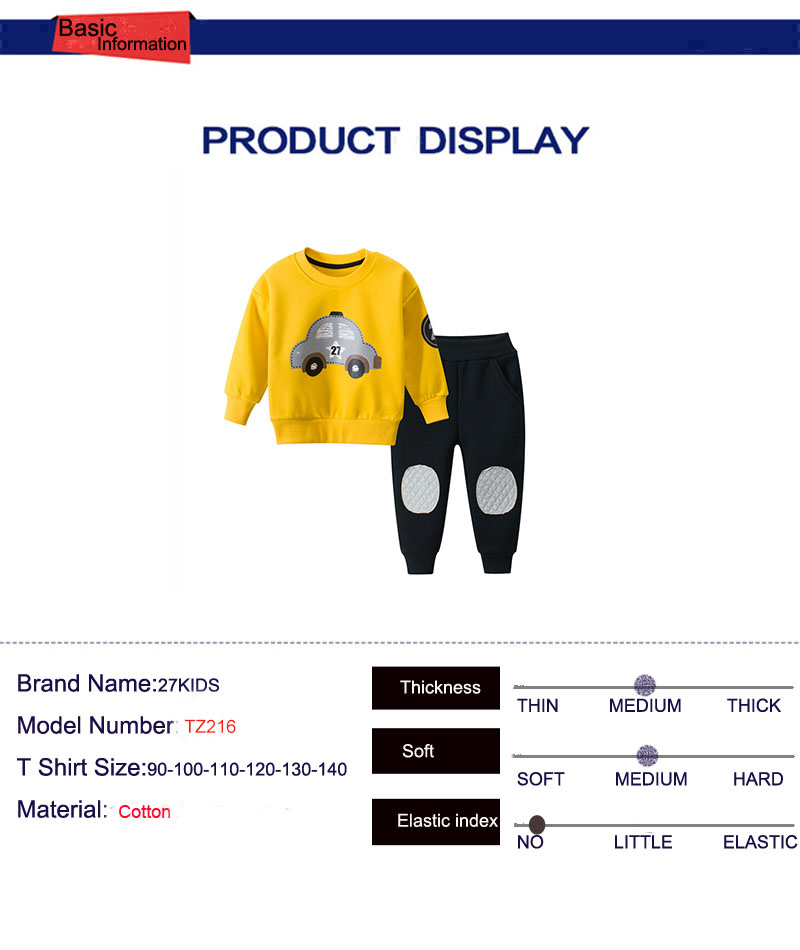 Cartoon Car Pattern Children Clothing Winter Toddler Boys Clothes Kids Clothes Suit Christmas Costume For Boy Clothing Set 5