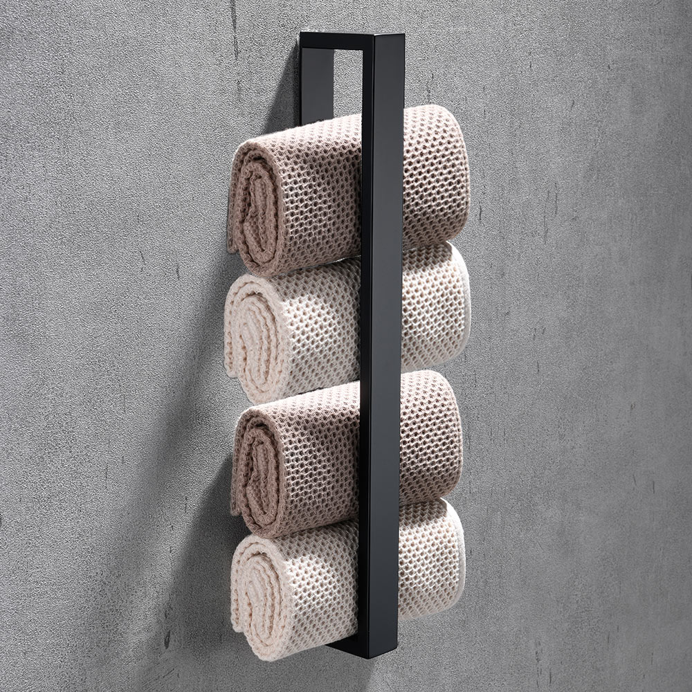 40cm Bathroom Stainless Steel Towel Rack Washcloth Facecloth Holder Self-Adhesive  Home Kitchen Supplies