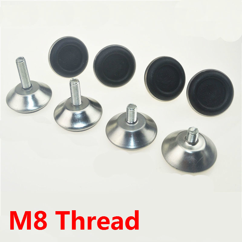 M8 Thread Furiniture Legs Feet Protectors Cups Coach Table Carbinet Legs Feet Hardware Accessories Silver Iron 4pcs