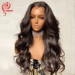 Парики из человеческих волос Hesperis на сетке, волнистые волосы без клея, бразильский парик с неповрежденными волосами, отбеленные узлы плотно...