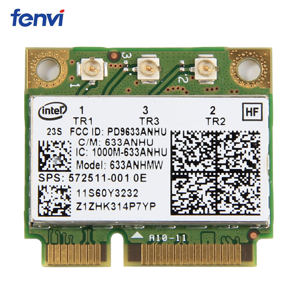 Dual Band 450Mbps 633ANHMW Mini PCI-E Wireless Wifi Network Card For Intel 6300 6300AGN 802.11a/g/n Lenovo Thinkpad/HP Laptop