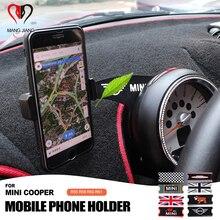 Interior do carro Gps Suporte Auto Mount Suporte Suporte Do Telefone Móvel MINI Com Parafuso Para MINI COOPER R55 R56 R60 R61 estilo do carro