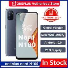 Globale Version Oneplus Nord N100 Smartphone Snapdragon 460 5000mAh Android 10 13MP Triple Cams 90Hz 20:9 Display Mobie telefon