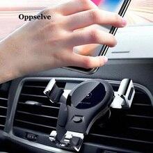 Oppselve support de voiture Qi chargeur sans fil pour iPhone XS Max X XR 8 support de téléphone de voiture de charge sans fil rapide pour Samsung Note 9 S9 S8