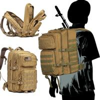 WAR GROUND 50L Military Tactical Bag Backpack Waterproof Outdoor Mountaineering Large Capacity 3D Camping Hunting Climbing Bag