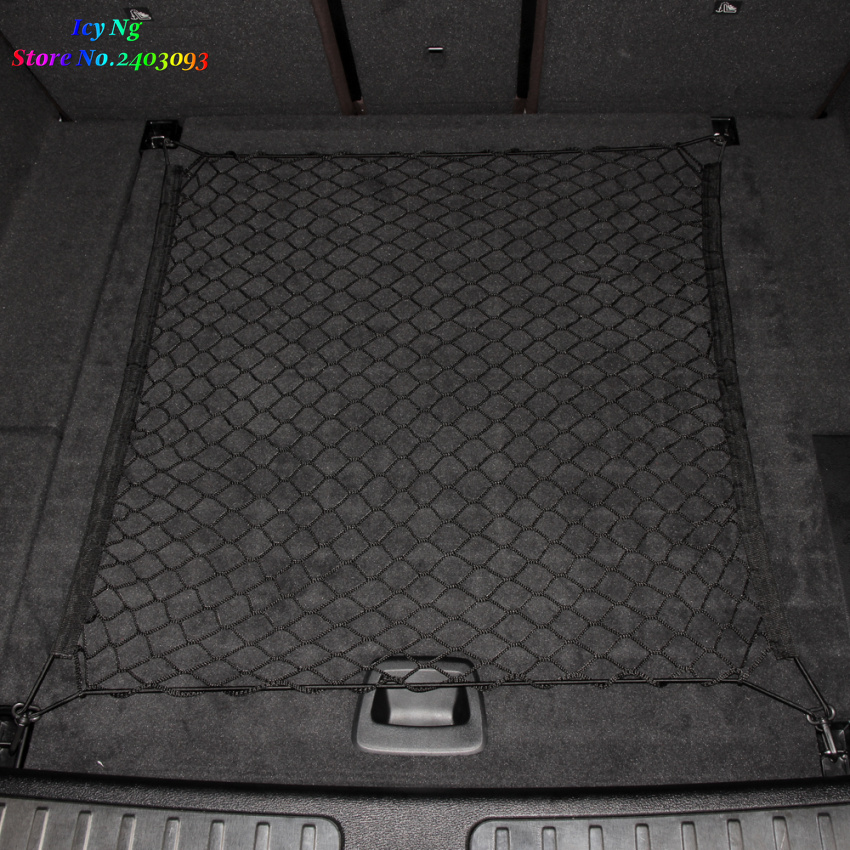 Image 2 - Car Trunk Cargo Mesh Net 4 HooCar Luggage For Subaru Forester Outback Lmpreza Legacy Tribeca XV BRZ-in Car Stickers from Automobiles & Motorcycles