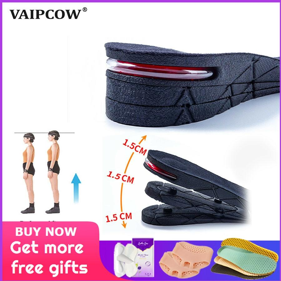1 Pair Unisex Height Increase Insole Adjustable Cut Lift Shoe Insert Pad BEST