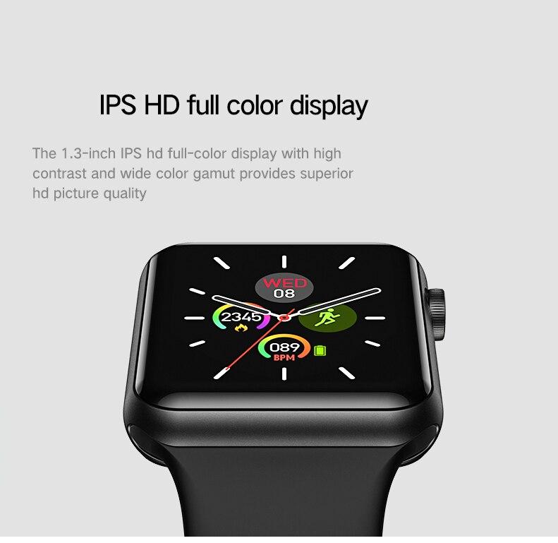 LEMFO Smart watch Men 1.3 Inch Full Touch Screen Allow Case Heart Rate Monitor Ip67 Waterproof Weather Forcase Smartwatch