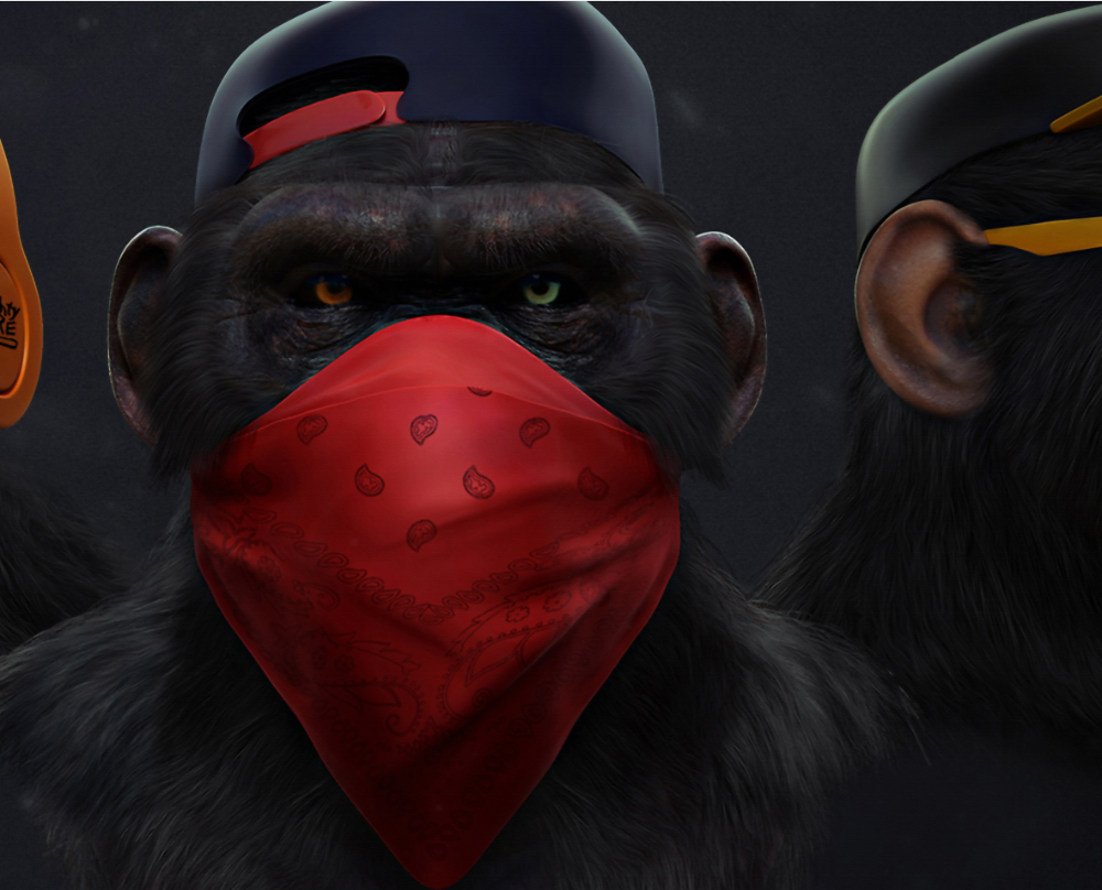 Dark Wise 3 Monkeys Animal Picture Canvas Wall Art Posters And Prints Gorilla
