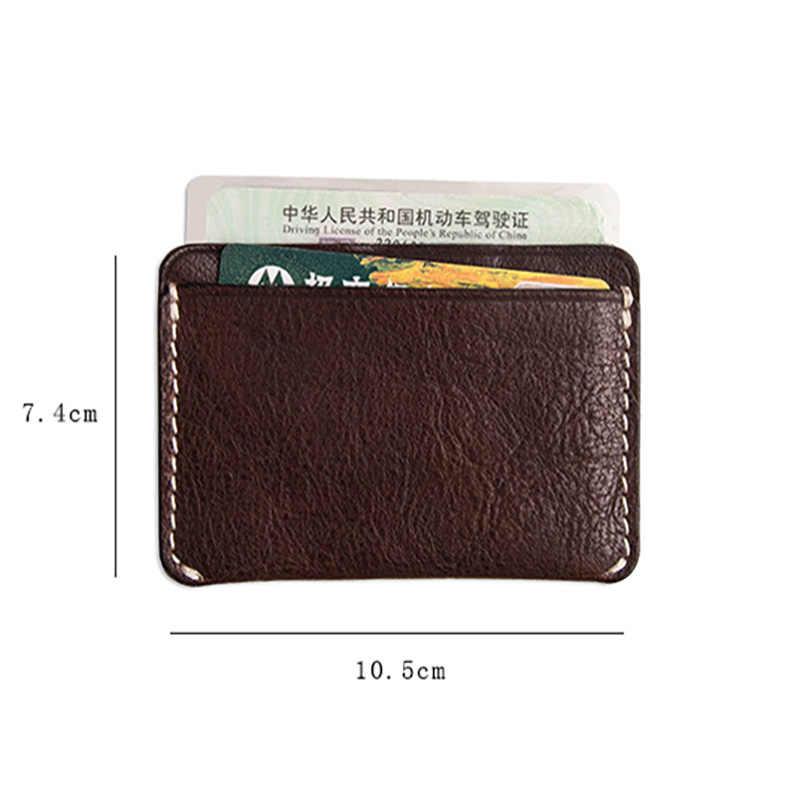 AETOO имплантированный кожаный бумажник, Мужской Ретро Длинный кошелек, модный зажим для билета Противоугонный кошелек