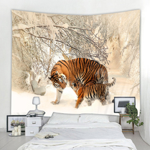 Forest Tiger Tapestry Decoration Hippie Wall Bohemian Wall Tapestry Mandala Wall Art Deco Tapestry sunset forest horse pattern wall art tapestry