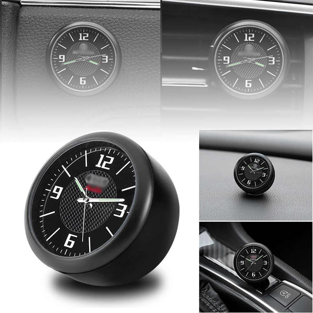 Relógio de pulso do carro modificado interior do carro eletrônico relógio de quartzo decoração do carro com logotipo para honda bmw benz vw audi nissan