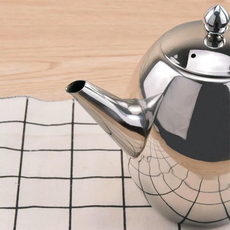 1500Ml Large Capacity Stainless Steel Coffee Tea Pot Maker with Infuser Kettle Boiling Teapots Drinkware Multifunction Heated Co in Teapots from Home Garden
