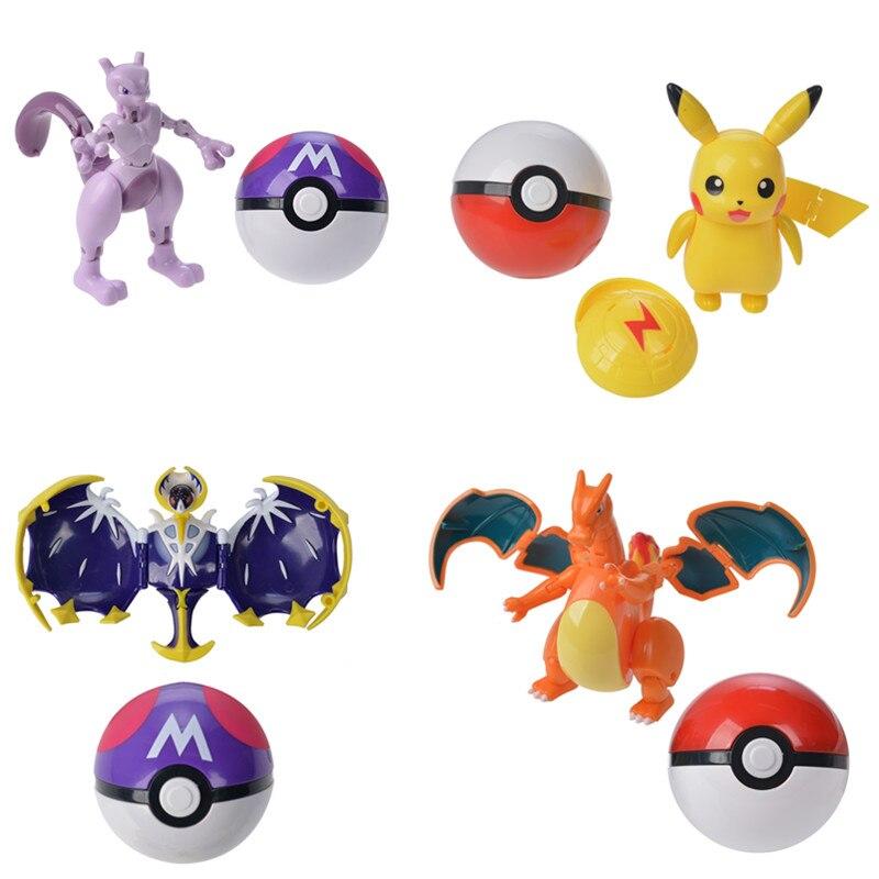 Origina Tomy Pokemon Verformung Pokeball Figuren Spielzeug Verwandeln Pikachu Charizard Squirtle Action Figur Modell Puppe Spielzeug Für Jungen