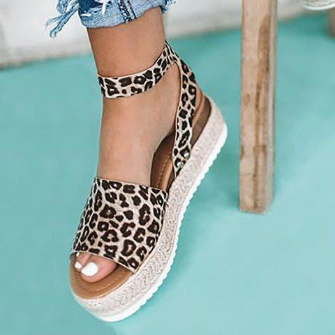 wish Amazon ebay new explosion models European and American foreign trade hemp rope wedge heel sole fish mouth sandals women