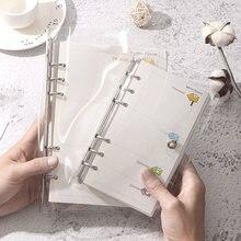 A5 a6 чехол для блокнота в виде листа Прозрачный блестящий ноутбука
