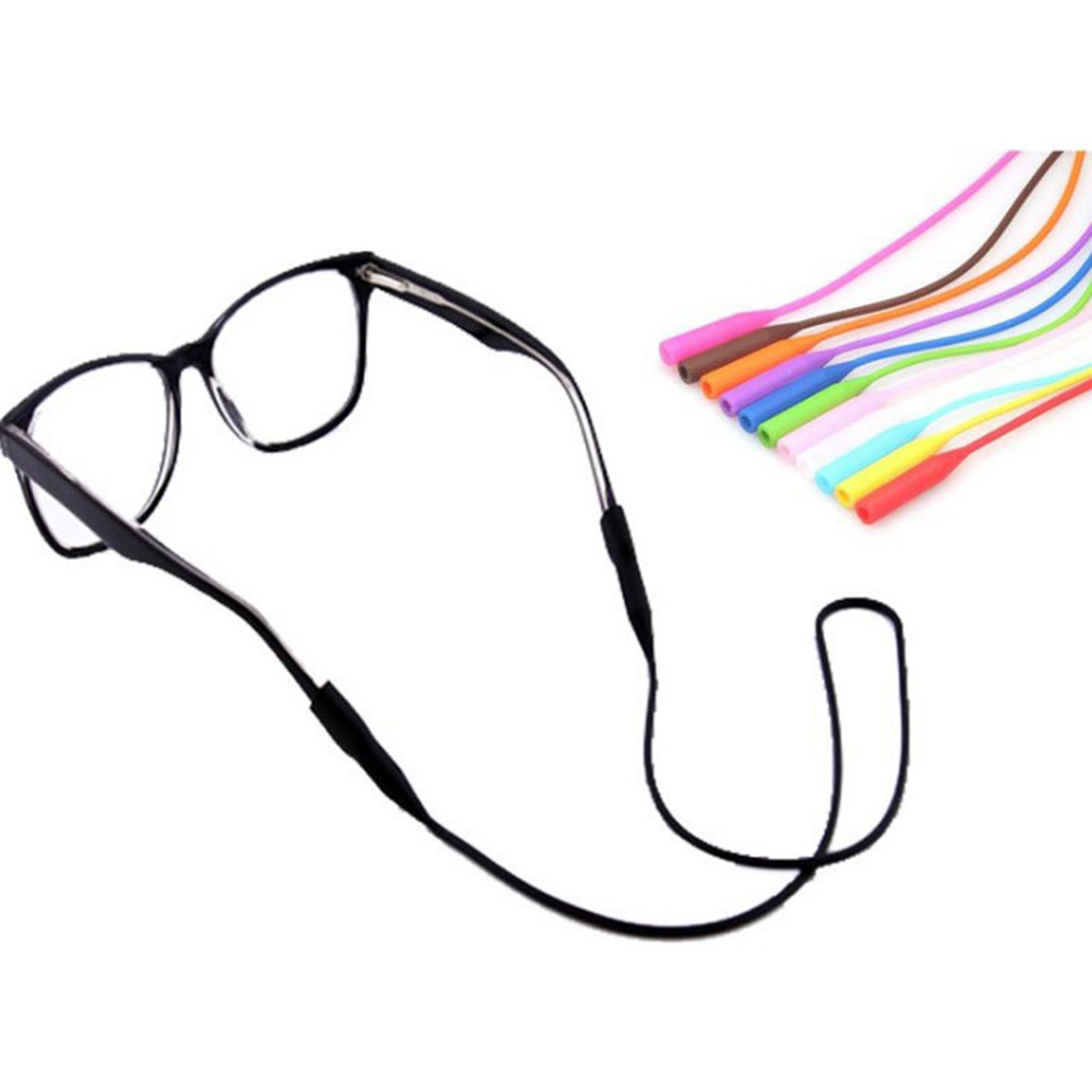 Sunglasses Chain String Silicone Cord-Holder Band Ropes Anti-Slip Elastic Candy-Color