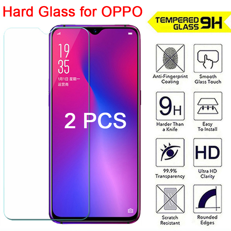 2 Pieces Tempered Glass For OPPO K3 K1 F1 Plus F1S 9H Protective Glass HD Screen Protector For OPPO F11 Pro F9 F7 F3 F5 Lite