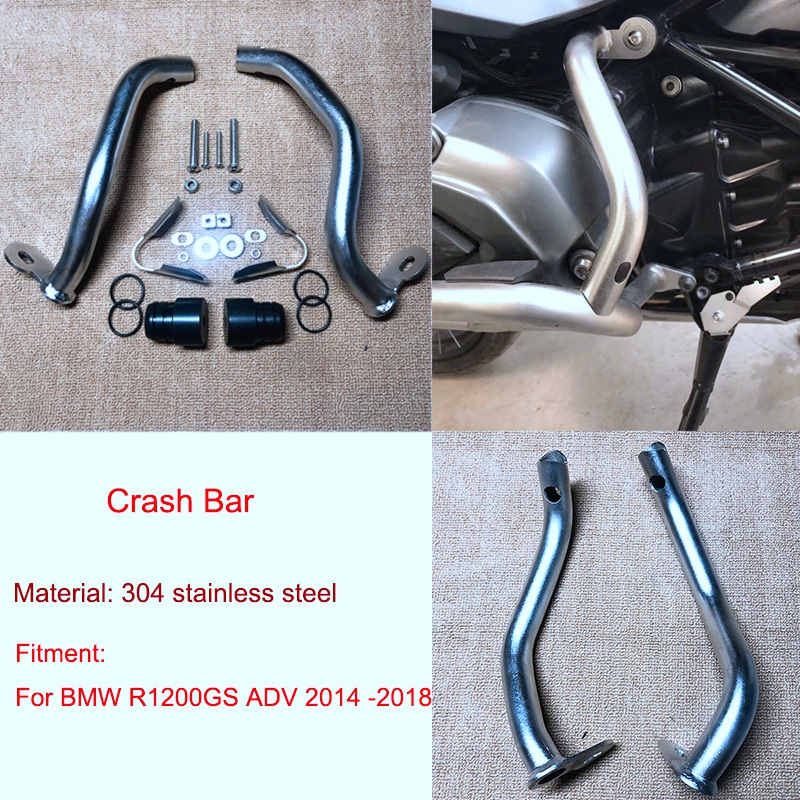 Lower Engine Highway Guard Crash Bar Bumper Frame Protection for BMW R1200 GS Adventure 2014 2018|Motor Mounts| |  - title=