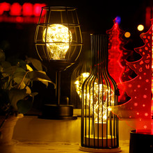 Retro LED Table Lamp Minimalist Hollow Desk Lighting Creative Reading Lamp Night Light Bedside Lamp Living Room Home Decoration(China)