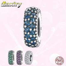 925 Sterling Silver Cubic Zirconia Charms Bracelet DIY Beads Fit Bracelet Charms Silver 925 Original Beads For Jewelry Making