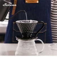 Tasse en céramique de filtre d'égouttement de café du moteur V60 de goutteur de café Permanent versent sur la cafetière avec le support séparé Pour 1-4 tasses