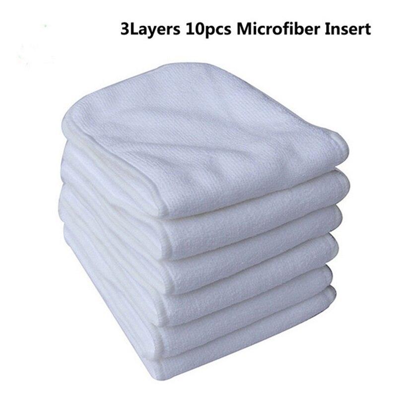 Купить с кэшбэком Ohbabyka Bamboo Charcoal Elastic Diaper Inserts for Baby Nappies Washable Microfiber Cloth Diaper Insert Wholesale Dropshipping