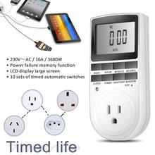 цена на Digital Timer Switch Programmable Timing Socket EU UK US AU BR Plug Electrical Wall Plug-in Power Socket Timer Switch Outlet