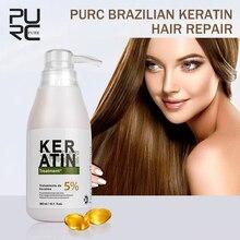 PURC 5% formalin 300 ml Brasilianische Keratin Behandlung Begradigung Haar Beseitigen Frizz und Reparatur Beschädigt Keratin Haar Behandlung
