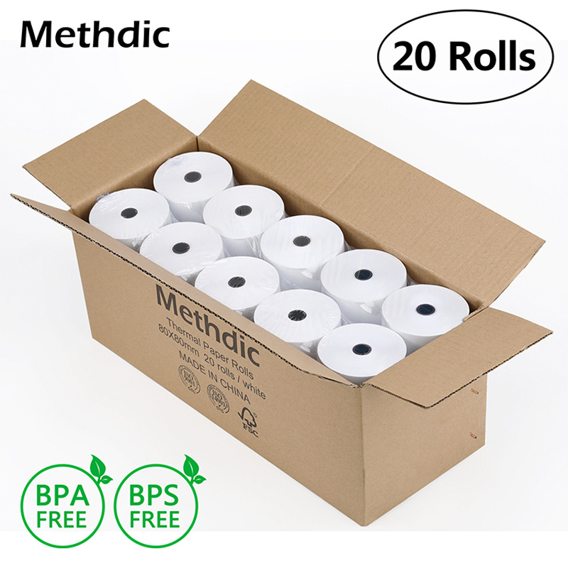 20rolls/Box 80X80mm Thermal Paper Till Roll Thermal For Cash Register Paper Thermal Printing Paper