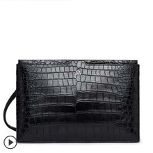 gete New crocodile skin handbag male clutch bag horizontal style male crocodile skin belly handbag large capacity envelope bag gete new crocodile handbag fashion luxury european and american leather handbag bag socialite high capacity female bag