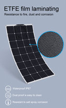 24% High efficiency Sunpower ETFE 20W-200W Flexible Solar Panels The 12 v battery solar panels